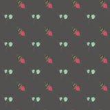 Hand gezeichnetes nahtloses Muster der Gekritzelweinlese Lizenzfreie Stockbilder