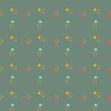Hand gezeichnetes nahtloses Muster der Gekritzelweinlese Lizenzfreies Stockfoto