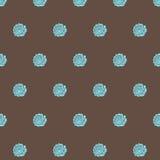 Hand gezeichnetes nahtloses Muster der Gekritzelweinlese Stockfotos