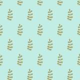 Hand gezeichnetes nahtloses Muster der Gekritzelweinlese Stockbild
