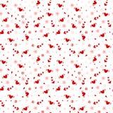 Hand gezeichnetes nahtloses Muster des Herzens stock abbildung