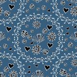 Hand gezeichnetes nahtloses Muster mit Florenelementen Lizenzfreie Stockfotos