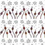 Hand gezeichnetes nahtloses Muster Zentangle Lizenzfreie Stockfotografie
