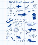 Hand gezeichnetes Pfeilset Lizenzfreie Stockfotos