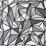 Hand gezeichnetes Polygon-Triangulations-nahtloses Muster Stockbild