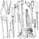 Hand gezeichnetes Tool-Kit Lizenzfreie Stockfotos