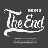 Hand gezeichnetes Typografieplakat Lizenzfreie Stockfotografie