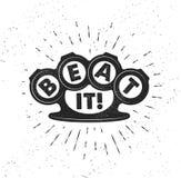 Hand gezeichnetes Typografieplakat mit den Knöcheln stock abbildung