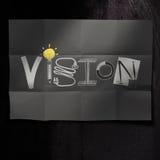 Hand gezeichnetes VISIONSdesignwort auf zerknittertem Papierhintergrund als c lizenzfreie abbildung