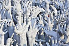 Hand of ghost sculpture. Hand of ghost from hell sculpture Royalty Free Stock Photo