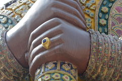 Hand of Giant statues Royalty Free Stock Images
