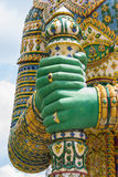 Hand of Giant statues of thailand, Public place.  royalty free stock photo