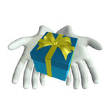 Hand and Gift. This graphic is Hand and Gift Stock Photography