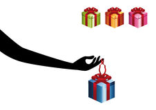 Hand with Gift royalty free illustration