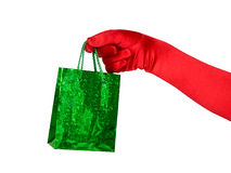 Hand with gift bag Royalty Free Stock Images