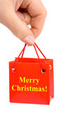 Hand with gift Stock Photography