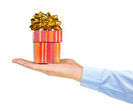 Hand and gift Royalty Free Stock Photos
