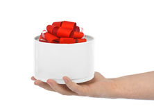 Hand with gift Royalty Free Stock Photo