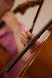 Hand girl playing cello Stock Photography