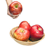 Hand give an apple Royalty Free Stock Images