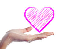 Hand Give Heart Royalty Free Stock Photography