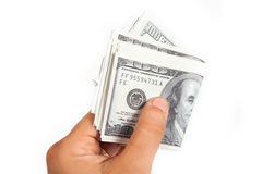 Hand Give Money Royalty Free Stock Image