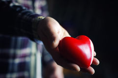 Hand give valentine heart Stock Photography
