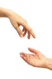 Hand giving Royalty Free Stock Photos
