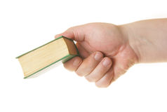 Hand giving book Stock Photography