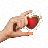 Hand giving conceptual heart Royalty Free Stock Photo