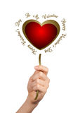 Hand giving conceptual heart Stock Photography