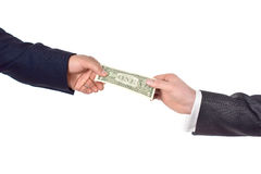 Hand giving dollar. Isolated image Royalty Free Stock Photography