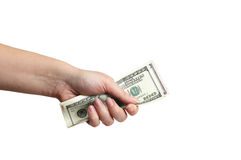 Hand giving dollars money Stock Photography