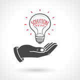 Hand Giving Light Bulb solution Idea Concept Royalty Free Stock Photos
