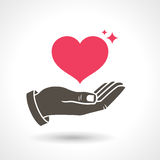 Hand Giving Love Symbol Stock Image
