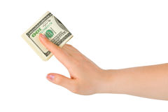 Hand giving money Stock Image