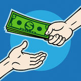 Hand, giving money Stock Photography