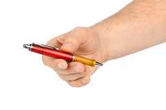 Hand giving pen Stock Image