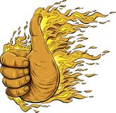 Flaming Thumbs Up Stock Image