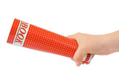 Hand giving school book Stock Photo