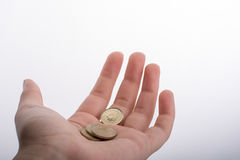 Hand giving some money away Stock Photography