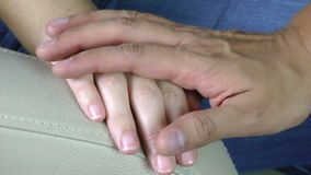 Hand giving support. Condolence Royalty Free Stock Photo