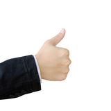Hand giving thumb up Stock Photo