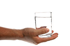 Hand giving water Stock Images