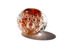 Hand - gjord brun glass pärla Royaltyfri Bild