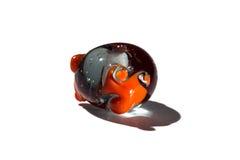 Hand - gjord brunt och orange glass pärla Royaltyfria Bilder