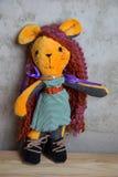 Hand - gjord docka och kläderleksak Royaltyfria Foton