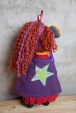 Hand - gjord docka och kläderleksak Arkivfoton