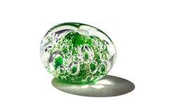 Hand - gjord gräsplan med den glass pärlan för bubblor Arkivfoto