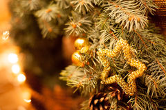 Hand - gjord julkranscloseup Royaltyfria Foton